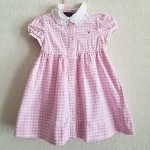 Ralph Lauren Gingham Print Dress